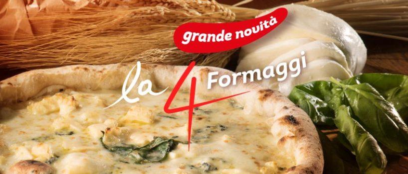 lancio pizza 4 formaggi 'a pizza