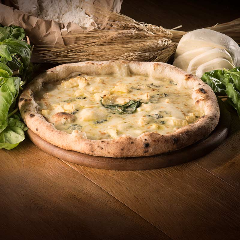 pizza 4 formaggi 'a pizza